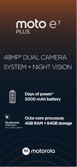 Częściowa specyfikacja Moto E7 Plus