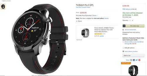 Mobvoi TicWatch Pro 3 на Amazon.uk / фото. Reddit