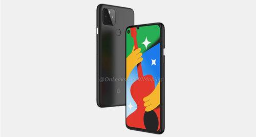 Google Pixel 4a 5G / fot. OnLeaks & 91Mobiles