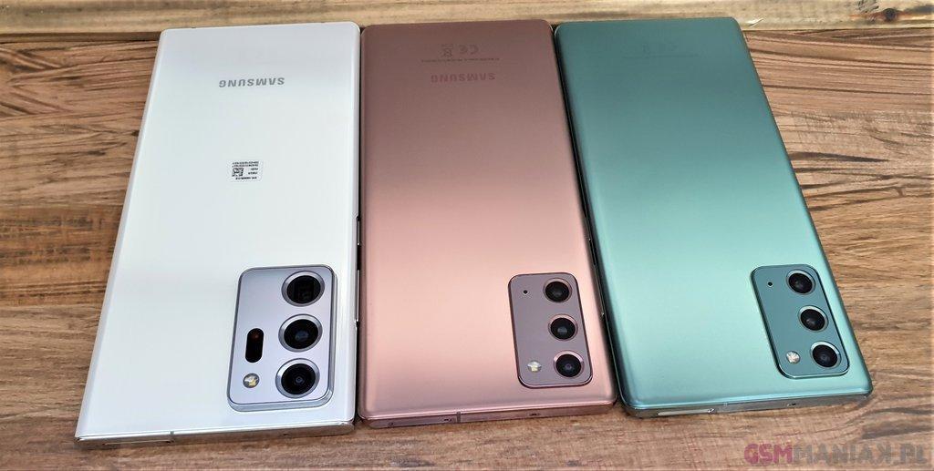 Samsung Galaxy Note 20 i Samsung Galaxy Note 20 Ultra / fot. gsmManiaK