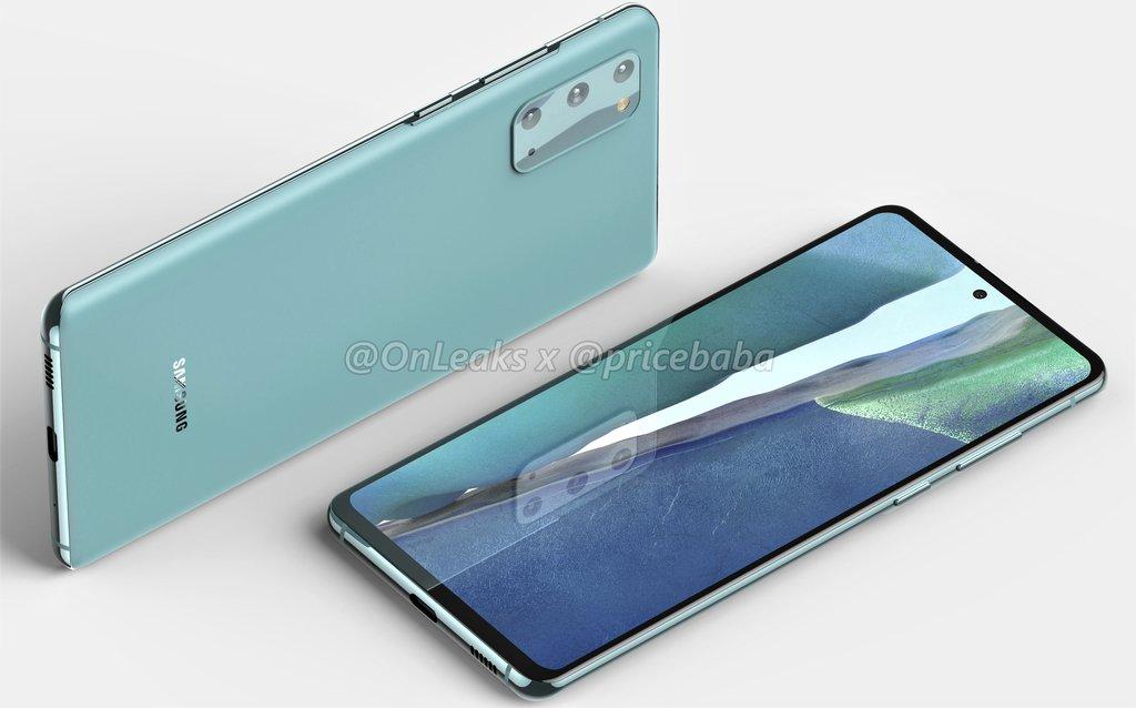 Samsung Galaxy S20 FE / fot. OnLeaks & Pricebaba