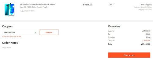 Promocyjna cena Xiaomi POCO F2 Pro w Gshopper