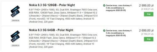Ceny Nokii 8.3 5G w Proshop