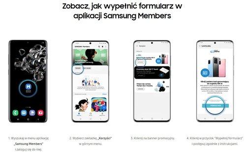 Tak wypełnisz formularz w Samsung Members
