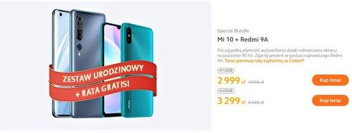 Promocyjna cena zestawu Xiaomi Mi 10 i Redmi 9 w Mi-homr.pl
