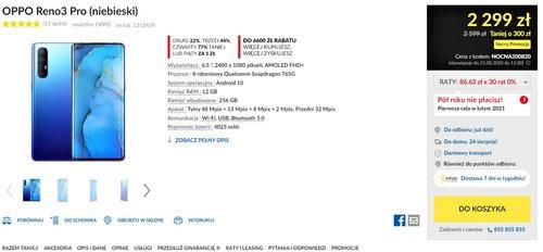 Promocyjna cena OPPO Reno 3 Pro w RTV Euro AGD