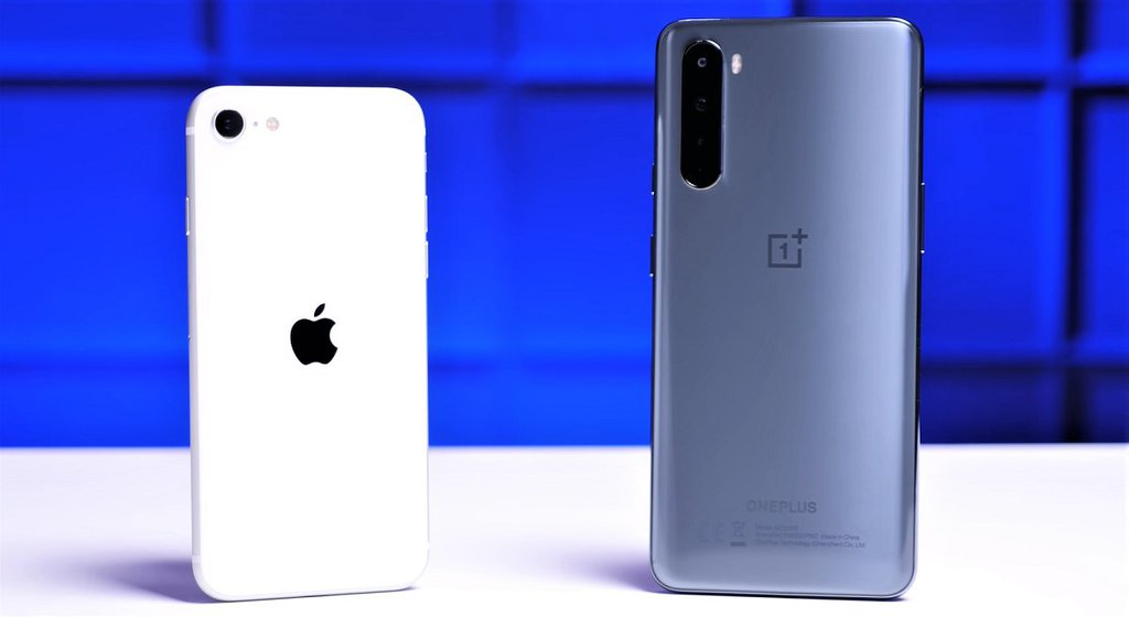 Apple iPhone SE 2020 i OnePlus Nord / fot. PhoneBuff
