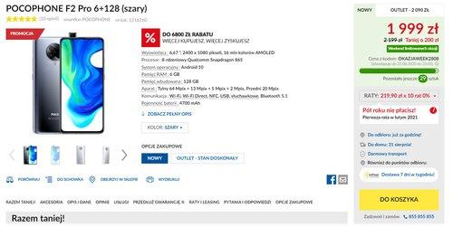 Promocja na Xiaomi POCO F2 Pro w RTV Euro AGD