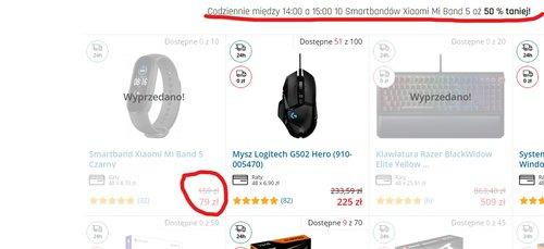 Promocyjna cena Xiaomi Mi Band 5 w ograniczonej ,,sztukowo'' i czasowo promocji Morele
