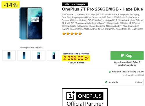 Promocyjna cena OnePlus 7T Pro w Proshop