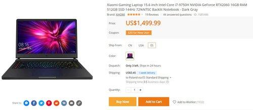 Laptop dla graczy od Xiaomi w tej cenie to świetny zakup