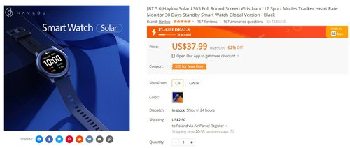 Xiaomi Solar w tej cenie to jeden z najlepszych tanich smartwatchy