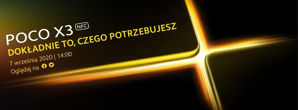 Zapowiedź premiery POCO X3 / fot. producenta