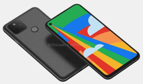 Google Pixel 5 / fot. OnLeaks & PriceBaba