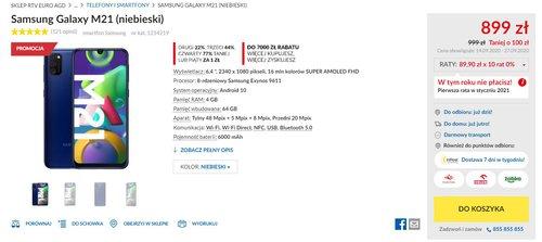 Promocyjna cena Galaxy M21 w RTV Euro AGD