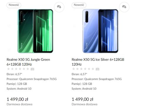 Cena Realme X50 5G w Polsce ujawniona przez x-kom