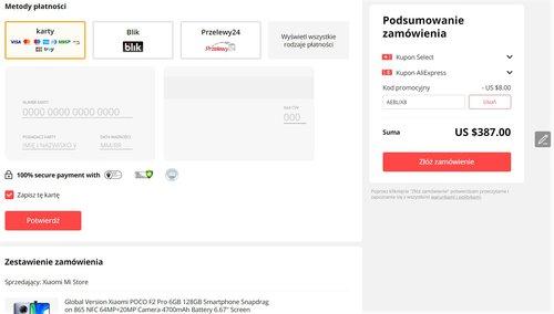 Promocyjna cena Xiaomi POCO F2 Pro na AliExpress