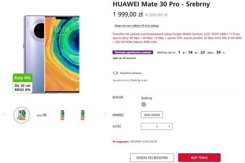 Promocyjna cena Huawei Mate 30 Pro na huawei.pl