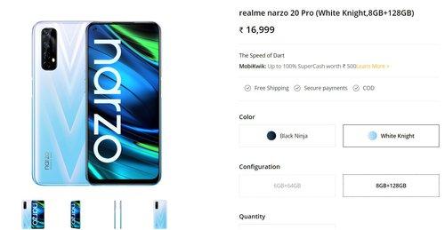 Cena Realme Narzo 20 Pro