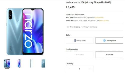 Cena Realme Narzo 20A