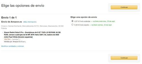 Promocyjna cena Xiaomi Redmi Note 8 Pro na Amazon.de