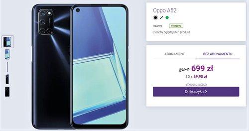 Promocja na OPPO A52 w sklepie Play bez umowy