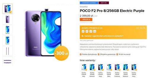 Xiaomi POCO F2 Pro w niższej cenie - oficjalna dystrybucja Mi-home.pl