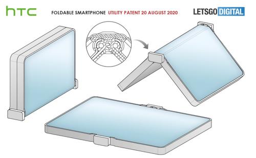 Składany smartfon HTC/fot. LetsGoDigital