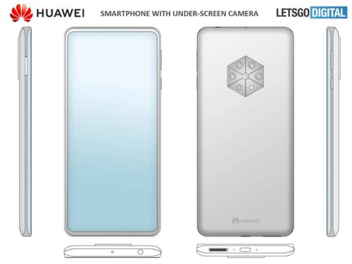 Nowy patent zdarza design smartfona Huawei/fot. LetsGoDigital