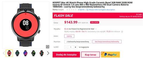 Zegarek z Androidem i taką baterią za mniej niż 550 złotych to ciekawa okazja