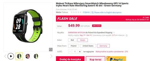 Mobvoi Tickasa to jeden z najlepszych zegarków sportowych za mniej niż 200 złotych/