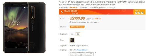 Nokia 6.1 w tej promocji to świetny pomysł na taniego smartfona z czystym Androidem