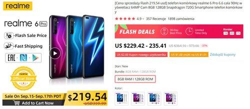 Realme 6 Pro za 830 złotych to niemal bezkonkurencyjny wybór