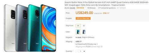 Redmi Note 9 Pro za jedyne 730 złotych to świetny zakup
