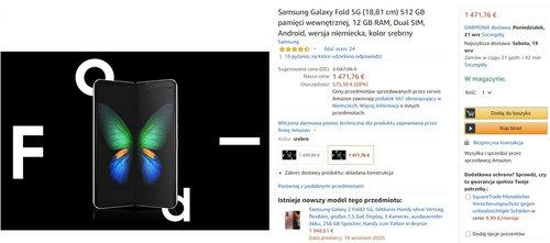 Samsung Galaxy Fold za 6500 złotych to najtańszy składany smartfon