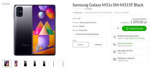 Samsung Galaxy M31s w promocji za 1399 złotych to wreszcie dobra okazja/fot. x-kom
