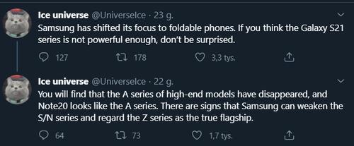 Kolejne Galaxy S i Galaxy Note mogą być zaskakująco słabe/fot. IceUniverse