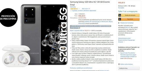 Samsung Galaxy S20 Ultra w dobrej promocji