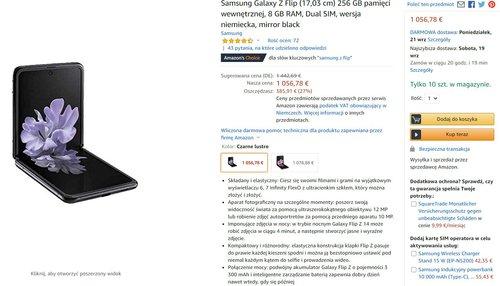 Samsung Galaxy Z Flip o 2 tysiące taniej, niż w Polsce