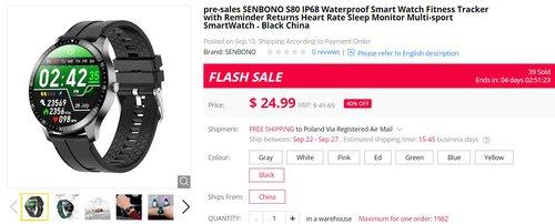 Senbono S80 za 94 złote to prawdziwy król tanich smartwatchy