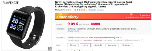smartwatch do 50 zł
