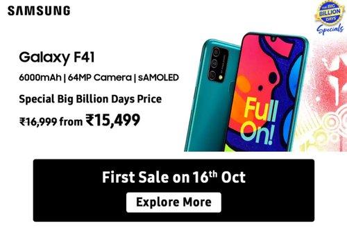 Samsung Galaxy F41 - cena w Indiach / fot. Flipkart