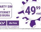 Play ma świetną ofertę dla klientów biznesowych. 2x SIM i nielimitowany internet do biura za 49,99 zł
