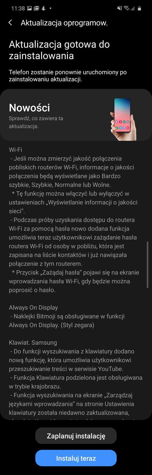 Samsung Galaxy Note 10 Lite z OneUI 2.5 w Polsce/fot. gsmManiaK.pl