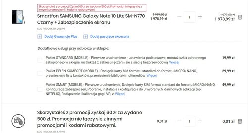 Samsung Galaxy Note 10 Lite в акции Media Expert