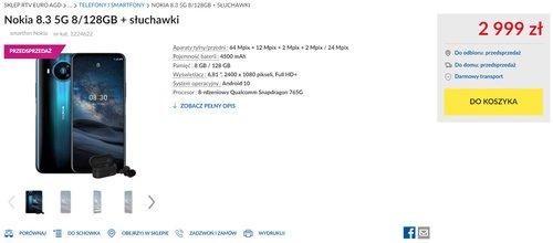 Nokia 8.3 5G w polskiej przedsprzedaży - znajdziesz ją m.in. w RTV Euro AGD