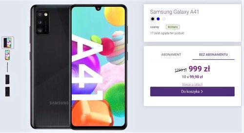 Акционная цена Galaxy A41 в Play без контракта