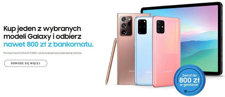 Kup jeden z wybranych smartfonów Galaxy i odbierz do 800 zł w gotówce / fot. Samsung