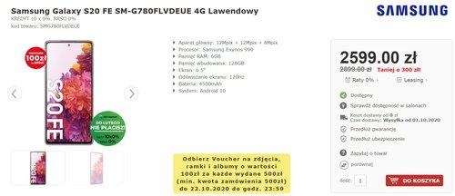 Samsung Galaxy S20 fE 4G w promocji AB FOTO