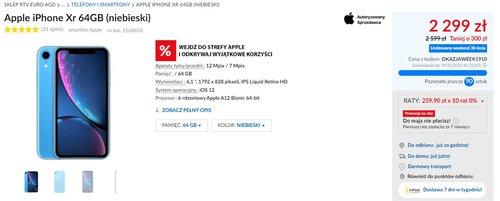 Apple iPhone XR w promocyjnej cenie RTV Euro AGD